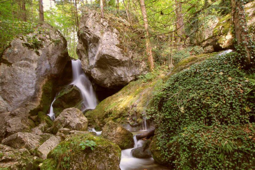 Rakúske vodopády Myrafälle neďaleko Viedne