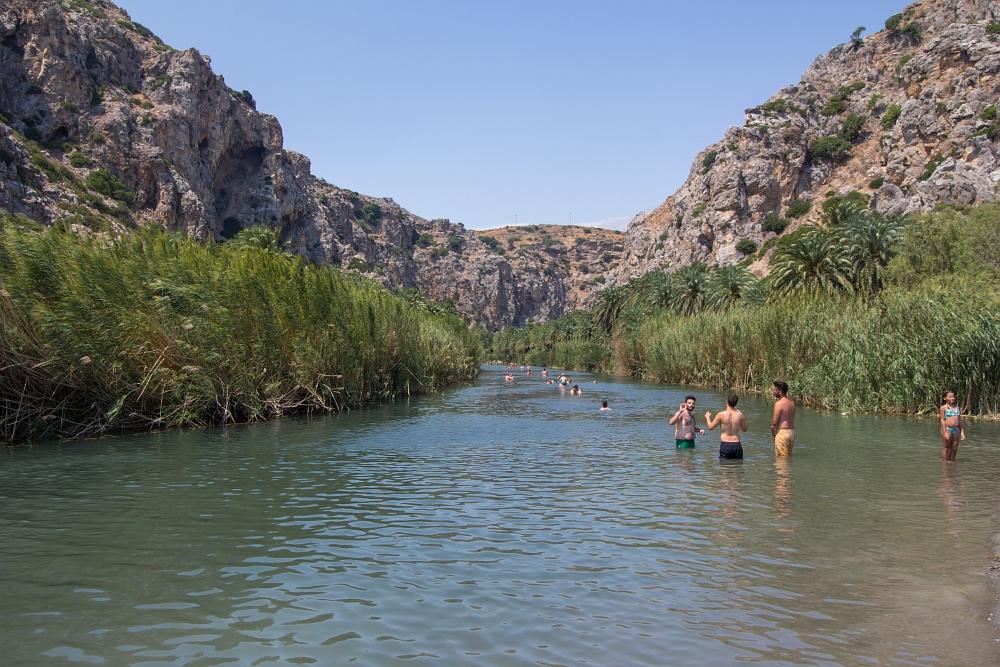 Rieka a pláž Preveli, Kréta