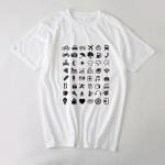 Cestovateľské tričko s ikonkami