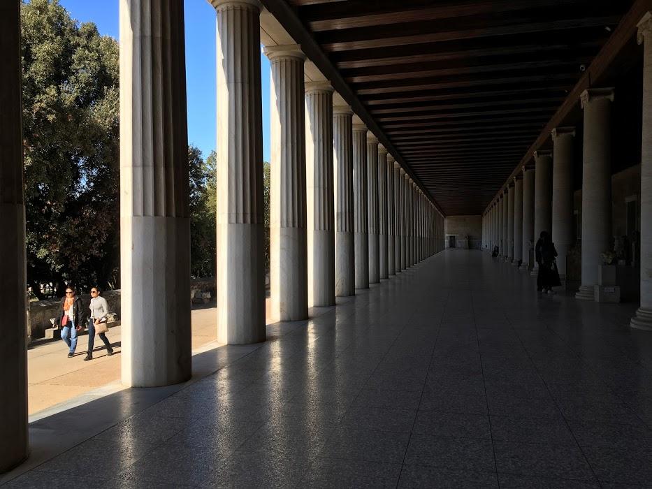 Centrum agory s múzeom.