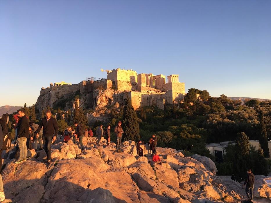Západ slnka nad Akropolou