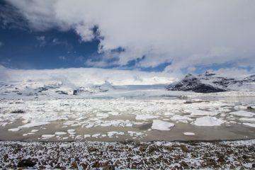 Ľadovcová lagúna Fjallsárlón, Island