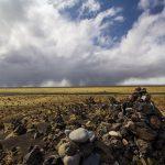 Kamenné mohylky Laufskálavarða, Island