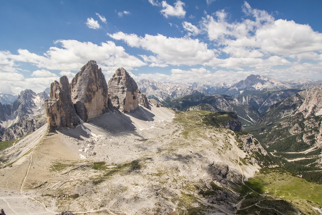 Nádherný výhľad na Tre Cime z ferraty Paternkofel