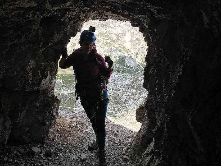 Tunely v rámci ferraty Paternkofel
