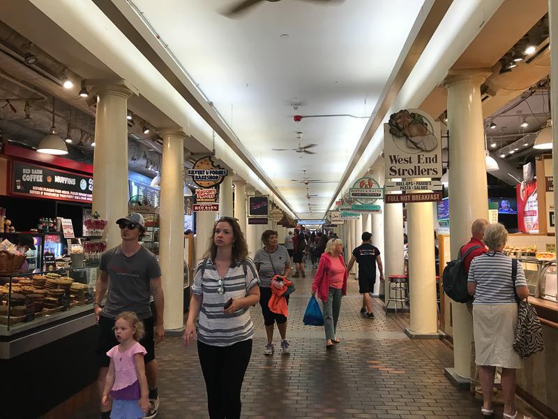 Quincy market zvnútra