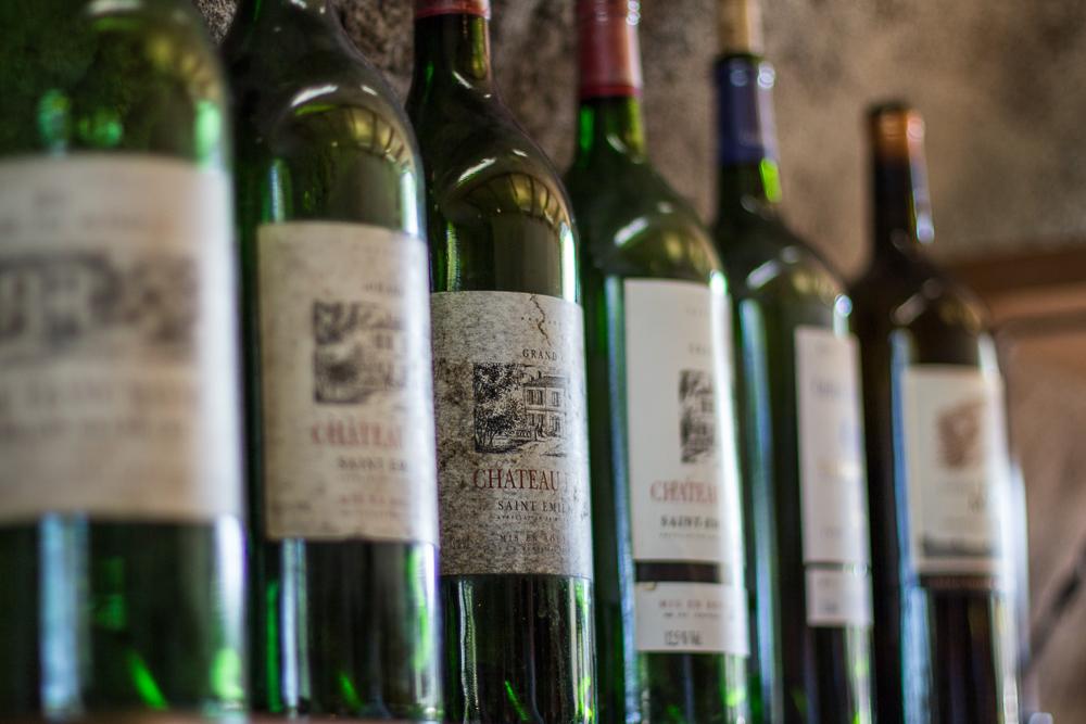 Pár flašiek vína