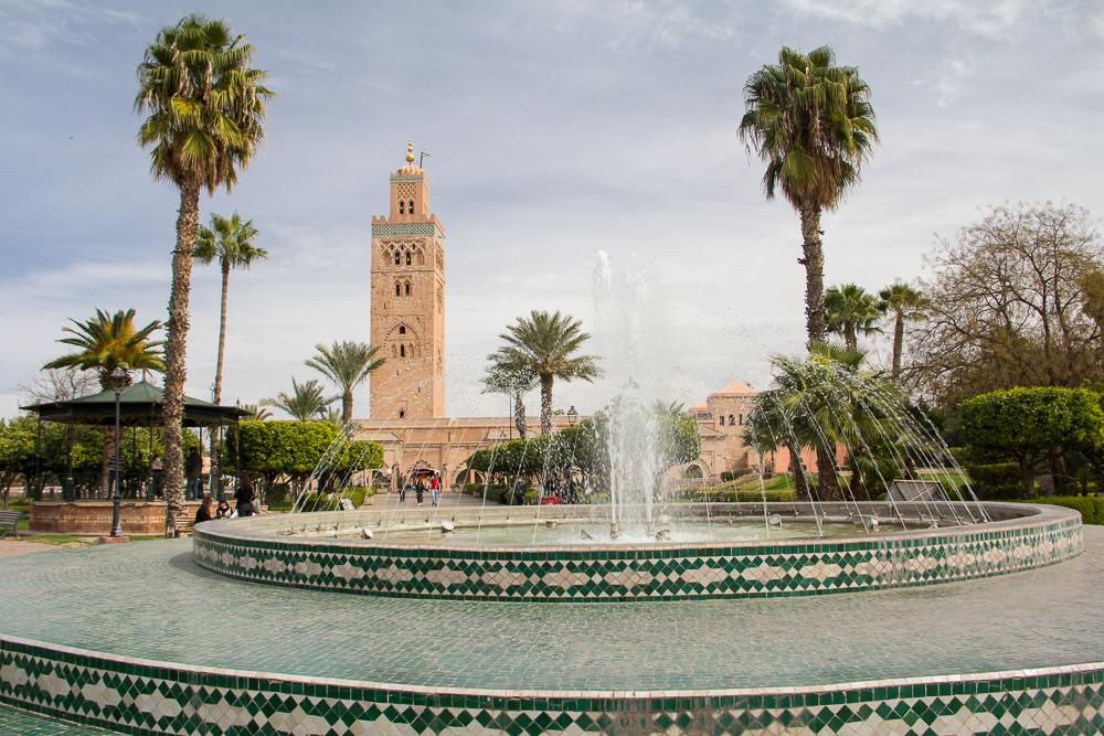 Mešita Kotoubia - ústredná stvba marakéškej Mediny