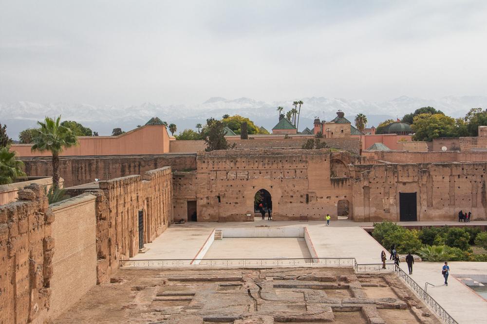 Palác Badi - hlavné nádvorie