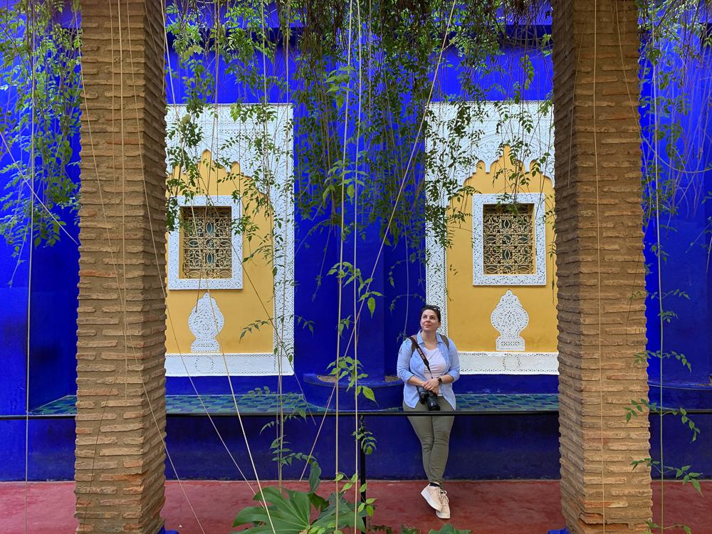 Stavby v záhrade sledujú pravidlá marockej/islamskej architektúry