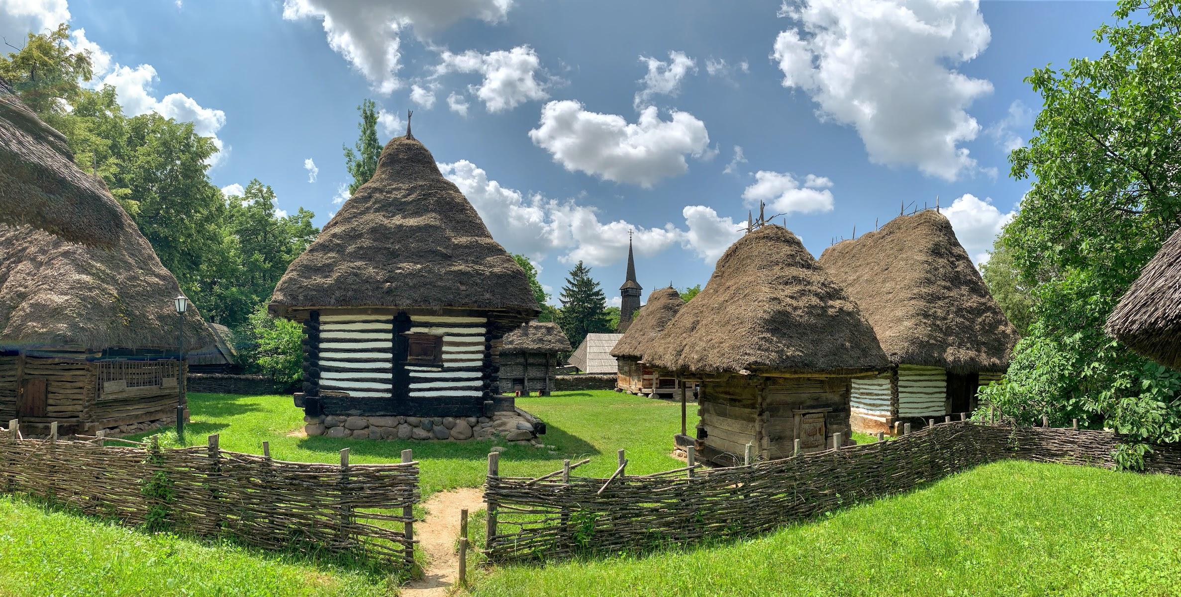 Panoráma malej časti dedinky