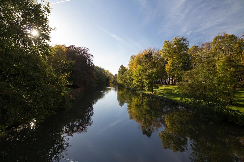 Kanál v Brugách, Belgicko