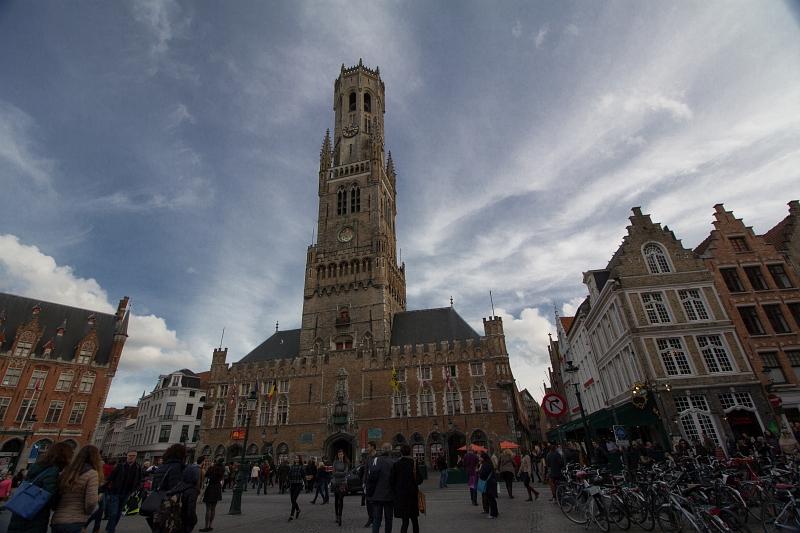 Radnica a hlavné námestie, Brugy, Belgicko